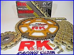 1999-2000 Honda CBR600 F4 RK GXW Gold QA 520 SuperSprox Chain and Sprocket Kit