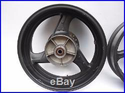 99-00 Honda Cbr 600 F4 600f4 Cbr600f4 Front & Rear Rim Rims Wheels Set Straight