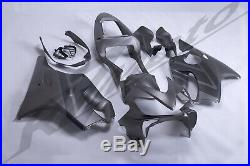 ABS Plastic Injection Fairing Bodywork for 2001-2003 Honda CBR600F4i Grey Black