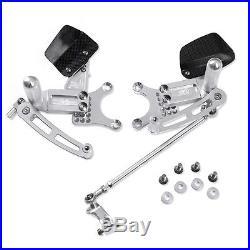 Adjustable Billet Rearsets Silver Honda CBR 600 F4/F4i 1999-2008 99-08 FR32