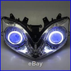 Assembled Headlight Angel Demon Eye Projector HID for Honda CBR600 F4i 2001-07