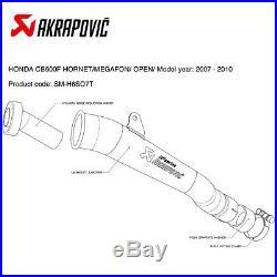 Exhaust Titanium Muffler Akrapovic for Honda CBR 600 F 2007 2013