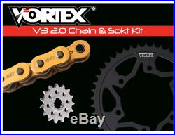 HONDA 2001-2006 CBR600 F4i VORTEX 525 CHAIN & STEEL SPROCKET KIT OEM 16-46 GOLD