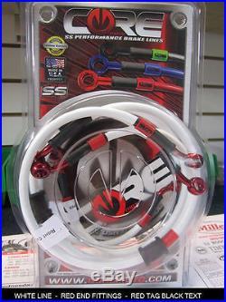 HONDA CBR600 F4i 2001-2008 STAINLESS STEEL BRAIDED FRONT & REAR BRAKE LINE KIT