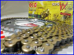 HONDA CBR600F4i'01/06 DID 525VX Gold X-Ring CHAIN & SPROCKET KIT OEM, QA or Fwy