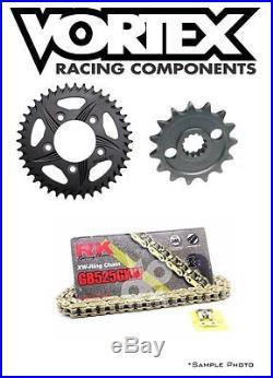 HONDA CBR600F4i 2001-06 Vortex/RK 525GXW X-ring Gold Chain and Sprocket Kit