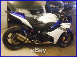 Honda CBR 600F ABS 2012 White Blue Akrapovic Oxford EBC Cowl NGK Fully Serviced