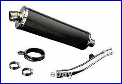 Honda CBR600 F4i Delkevic Slip On 18 Carbon Fiber Oval Muffler Exhaust 01-06