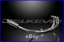 Honda CBR600 F4i Full 4-1 Exhaust 8 Stainless Round Muffler 01 02 03 04 05 06