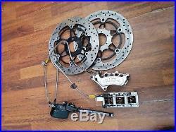 Honda CBR600 f3 Harrison Billet 6 pot front Brake Calipers discs pads goodridge