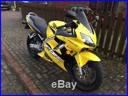 Honda CBR600F 2001 Yellow Low Miles 2 Owners Father and Son