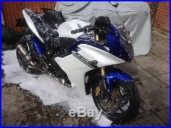 Honda CBR600F 2012 Blue White 600cc Akrapovic