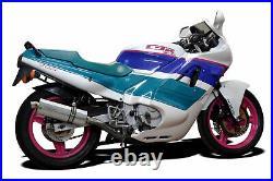 Honda CBR600F Hurricane Delkevic 4-1 Exhaust 14 Stainless Oval Muffler 87-90