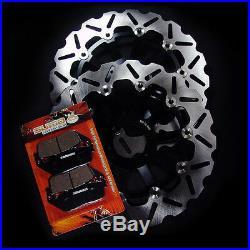 Honda Front + Rear High Quality Brake Disc Rotor + Pads CBR 600 F3 1995-1998