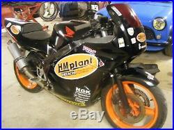 Honda cbr600f track day bike, race bike, competition bike, barn find GP change