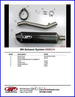 M4 Exhaust Honda CBR600F4i 2001-2003 Slip on system with CARBON muffler