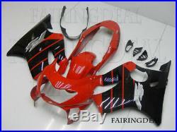 NT Injection Red Black Plastic Fairing Kit Fit for HONDA 1999-2000 CBR600F4 f036