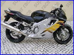 Silver Black ABS Fairing Bodywork Injections Kits For Honda CBR600 F4 1999-2000