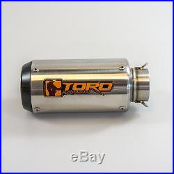 Toro T1 Brushed Stainless Steel / Carbon GP Exhaust for Honda CBR 600 F4i 01-06