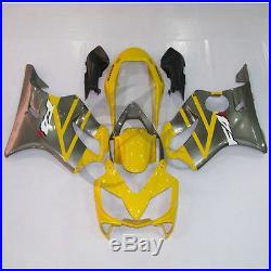 Yellow Injection Molded Fairing Bodywork Set For Honda CBR600 F4I 2001-2003 02